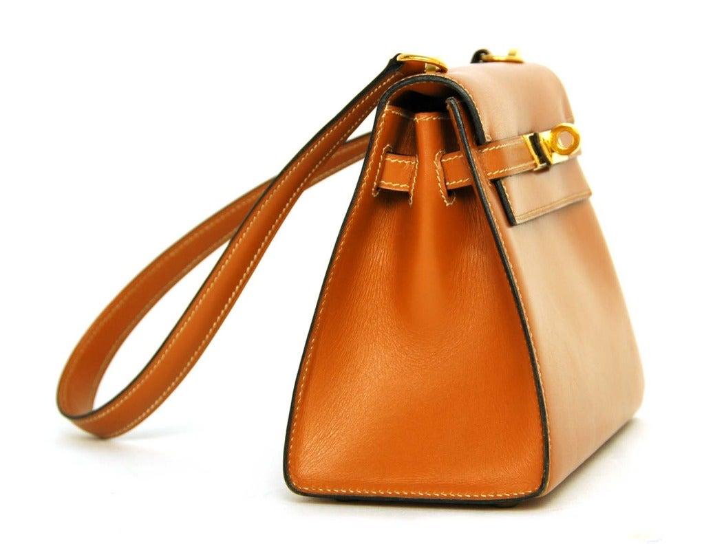 Hermes Vintage Tan Leather 20cm Mini Kelly Shoulder Bag w. GHW at ...