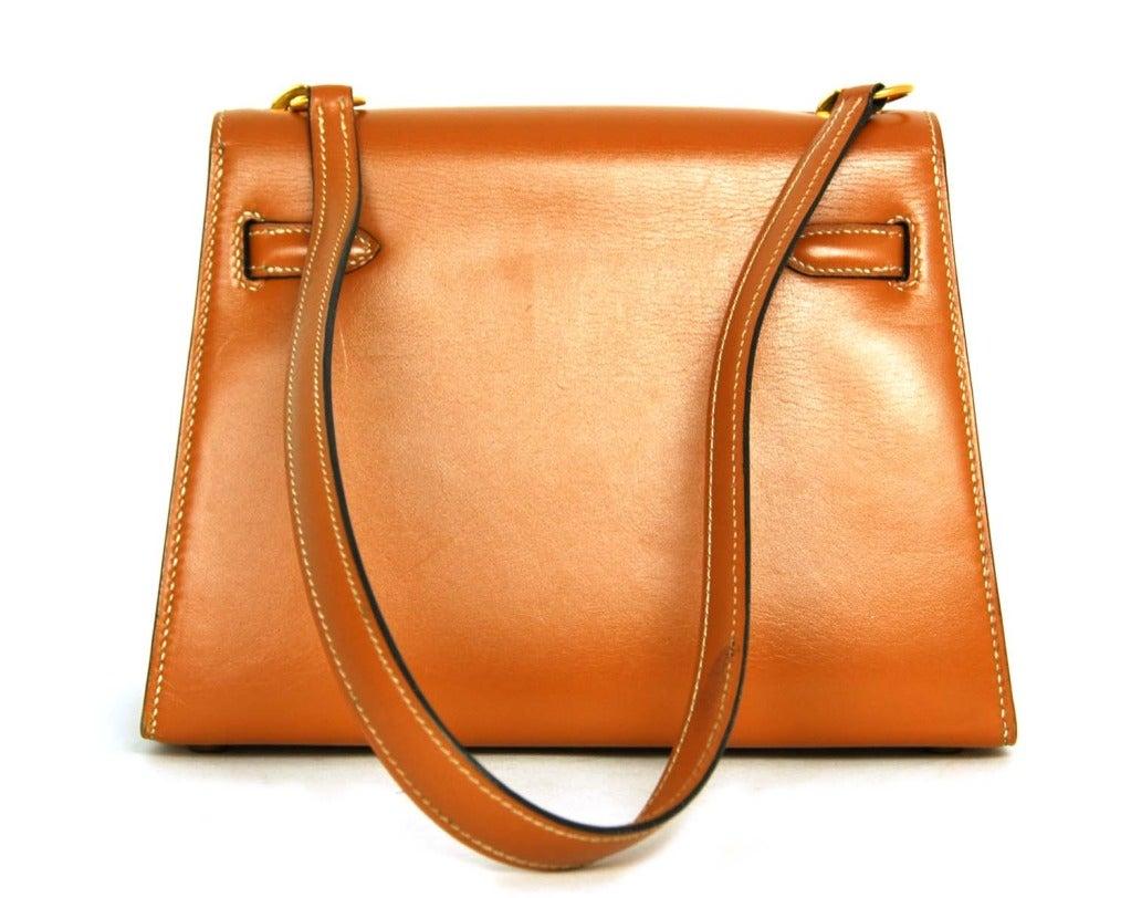 Hermes Vintage Tan Leather 20cm Mini Kelly Shoulder Bag W