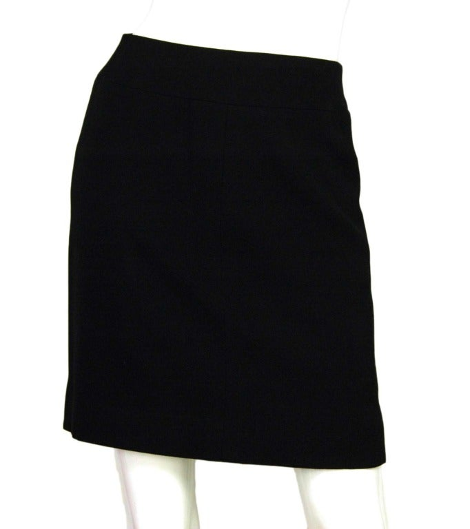 CHANEL Black Skirt Suit With Screw Buttons - Sz 10 4