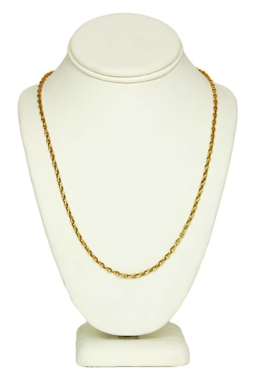 GUCCI Vintage Solid 18K Gold Chain Link Necklace c. 1970s image 2