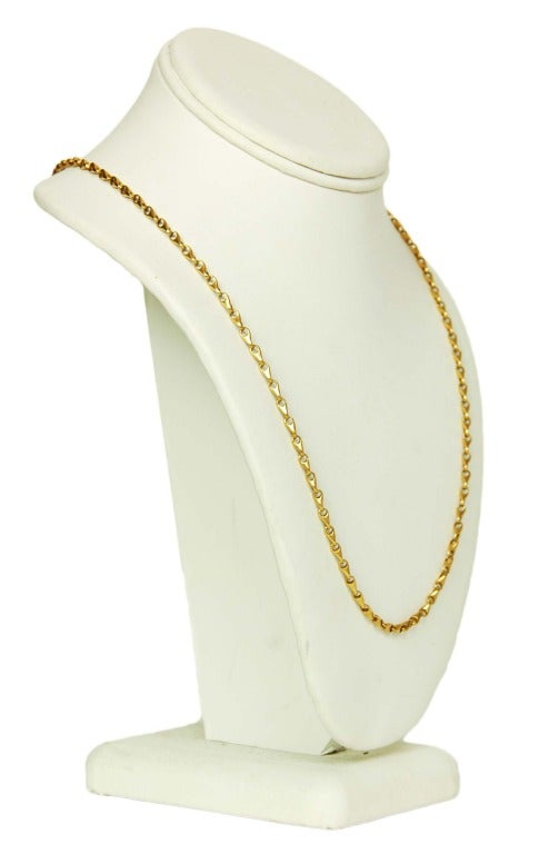 GUCCI Vintage Solid 18K Gold Chain Link Necklace c. 1970s image 3