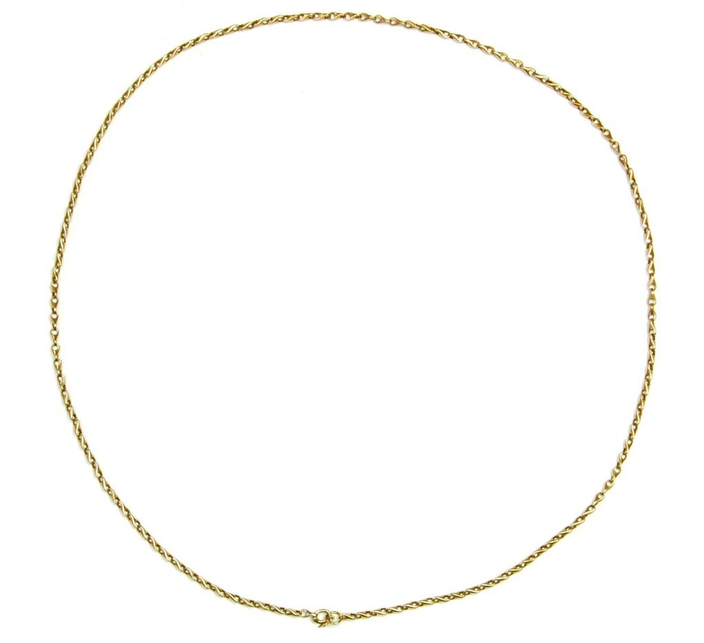 GUCCI Vintage Solid 18K Gold Chain Link Necklace c. 1970s image 5