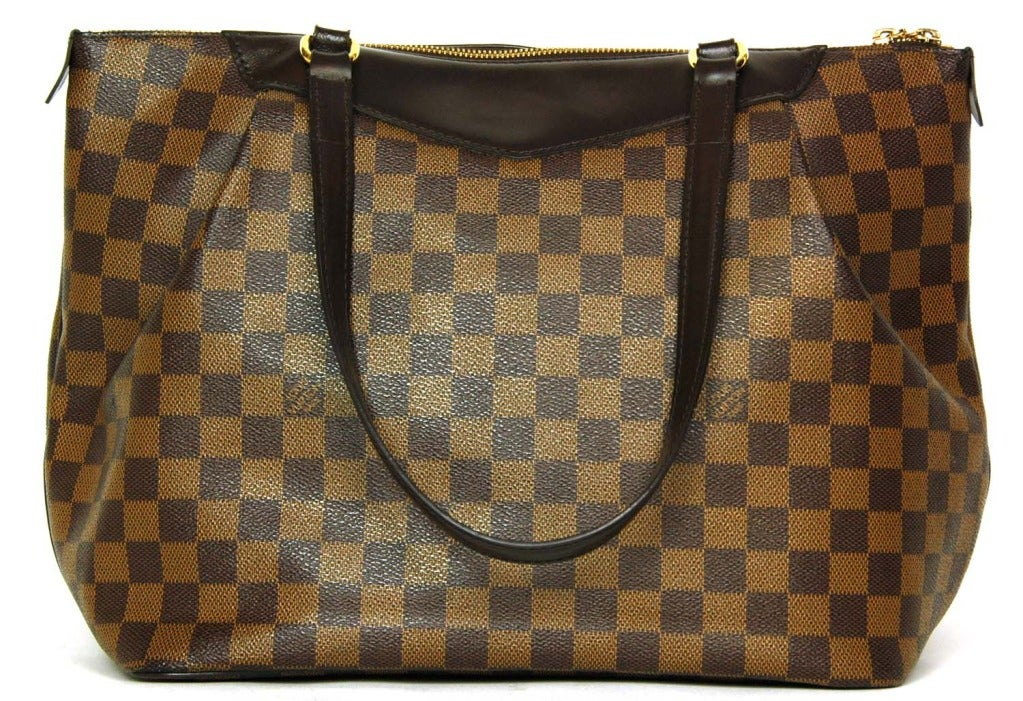 LOUIS VUITTON Brown Damier Check Canvas 'Westminster GM' Tote c. 2012 3