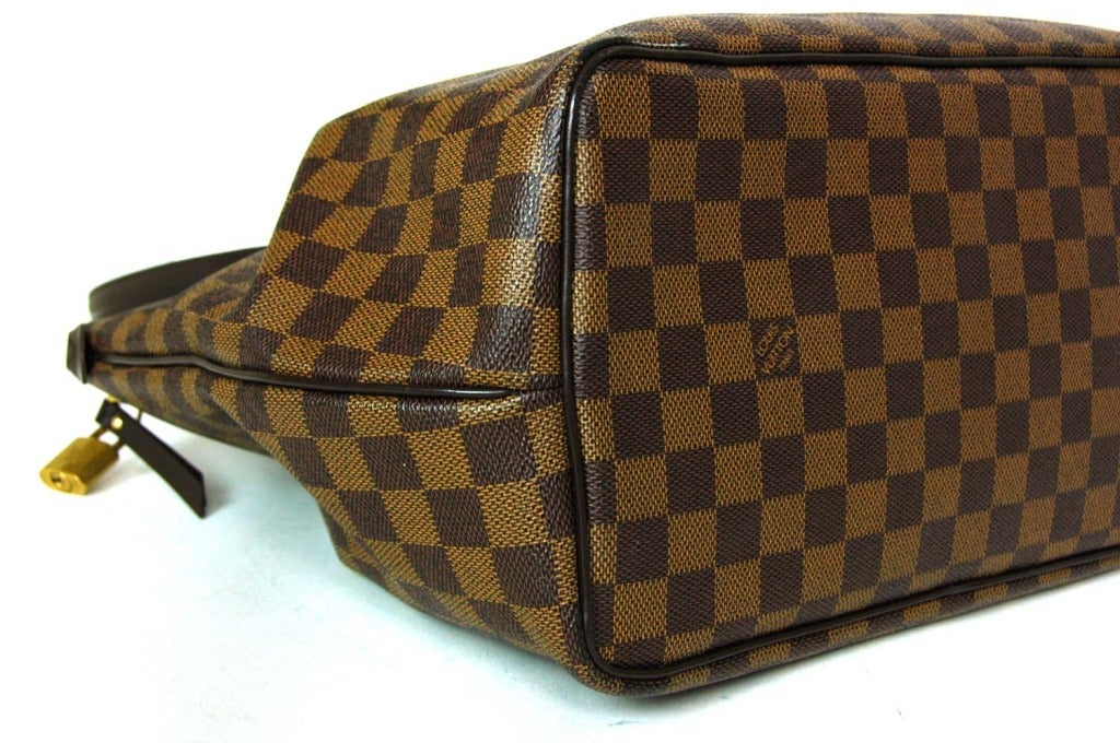 LOUIS VUITTON Brown Damier Check Canvas 'Westminster GM' Tote c. 2012 4