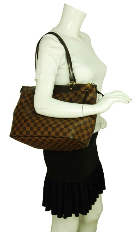 LOUIS VUITTON Brown Damier Check Canvas 'Westminster GM' Tote c. 2012 9