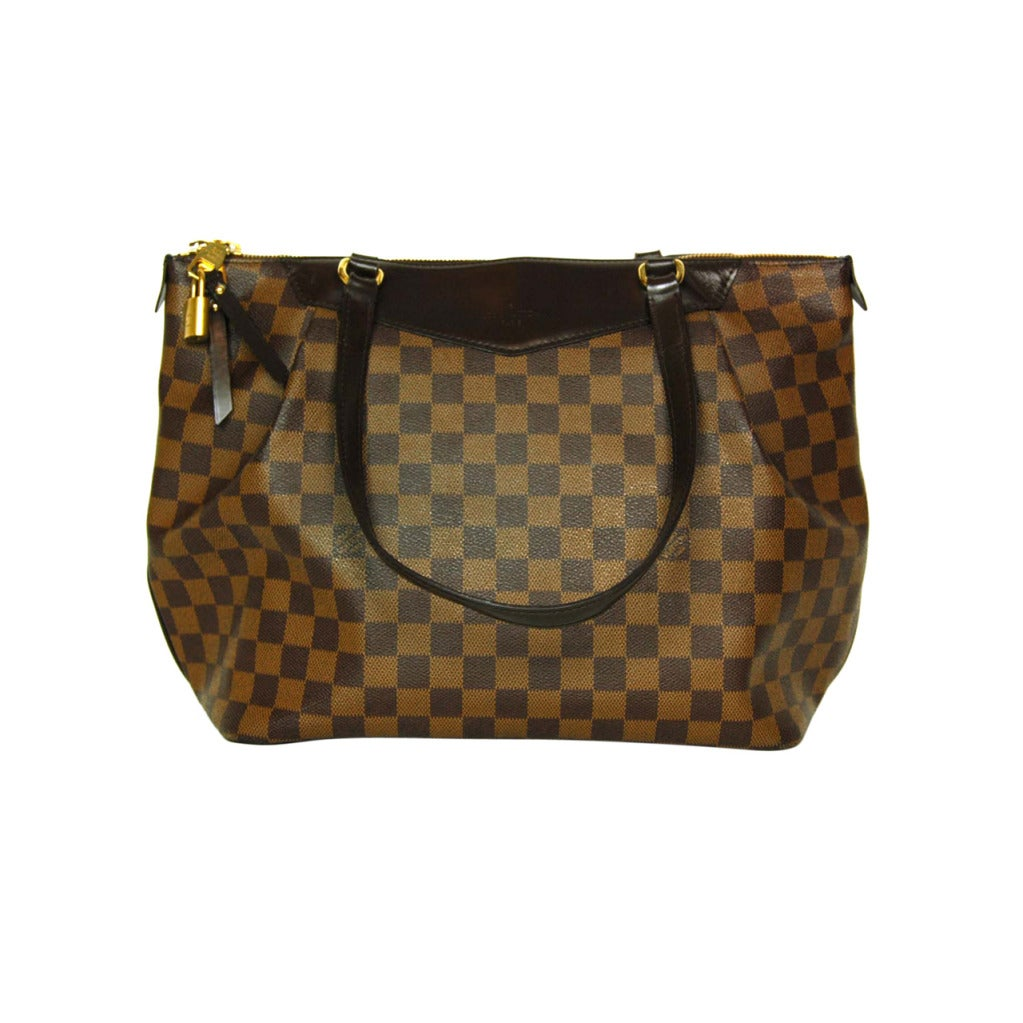 LOUIS VUITTON Brown Damier Check Canvas 'Westminster GM' Tote c. 2012 1