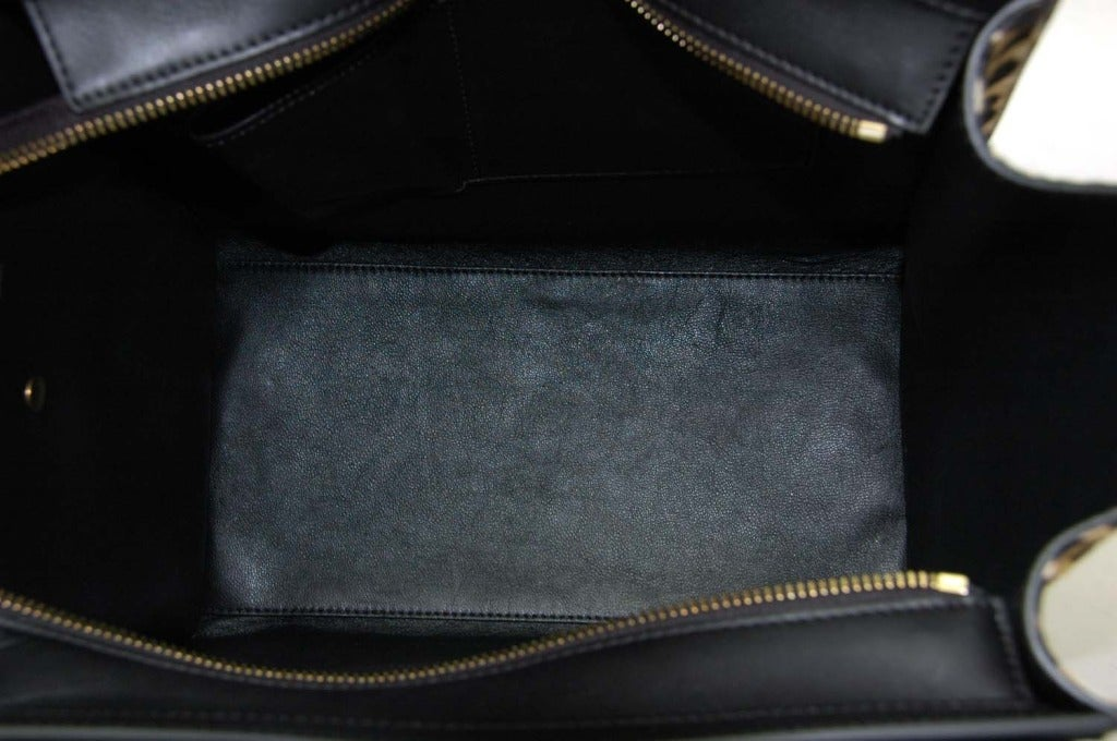 Celine Leopard Print Ponyhair & Leather Mini Luggage Tote Bag Rt. $4,400 image 7