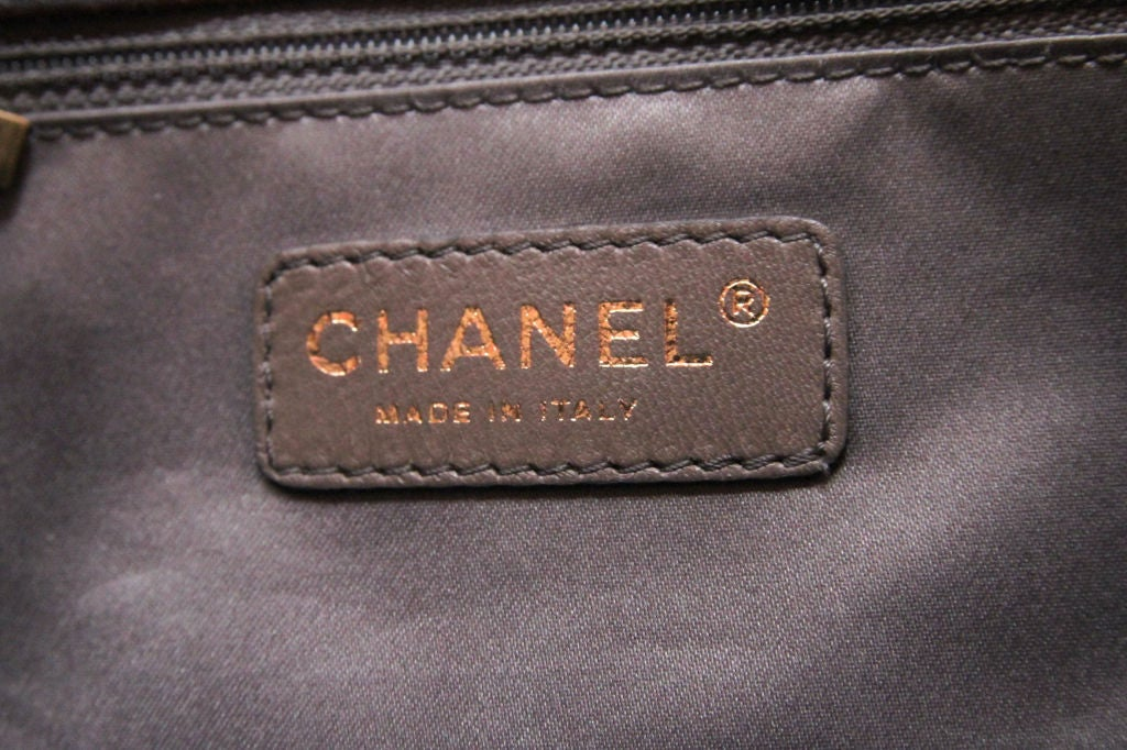 CHANEL BROWN QUILTED LEATHER FLAP BAG WITH RED STITCHING 8