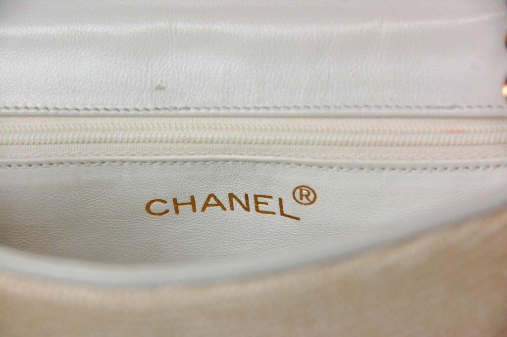 Chanel Vintage '86 Raffia Mini Shoulder Bag w. CC and Chain Strap 4