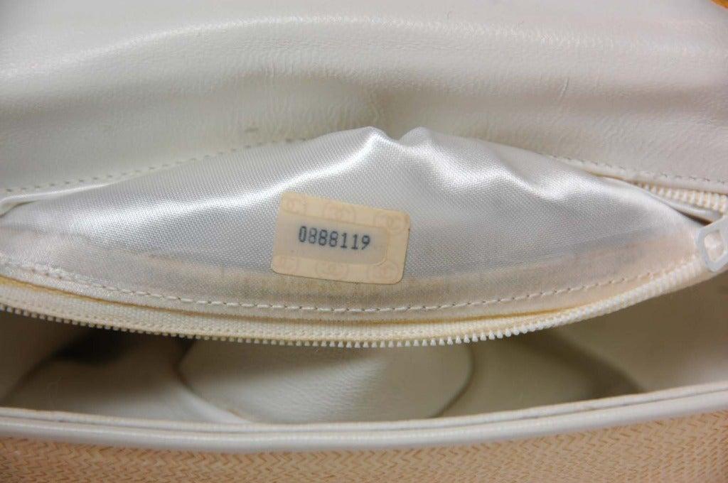 Chanel Vintage '86 Raffia Mini Shoulder Bag w. CC and Chain Strap 5