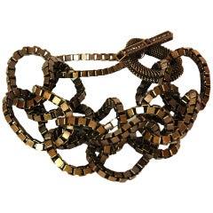 Lanvin Brasstone Chunky Link Bracelet