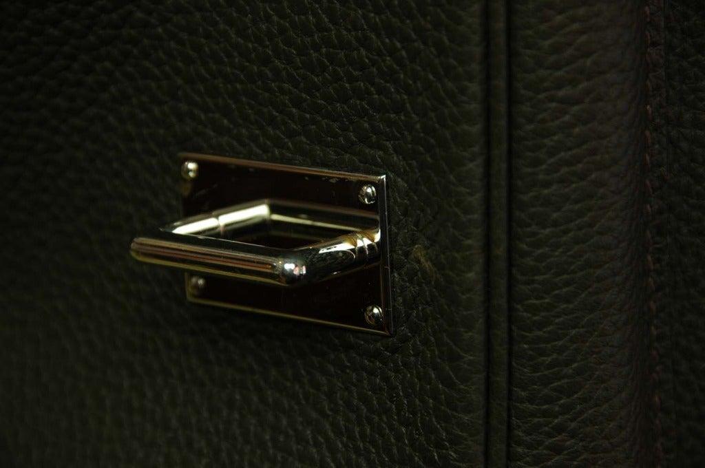 Hermes Olive Leather Crossbody Bag At 1stdibs