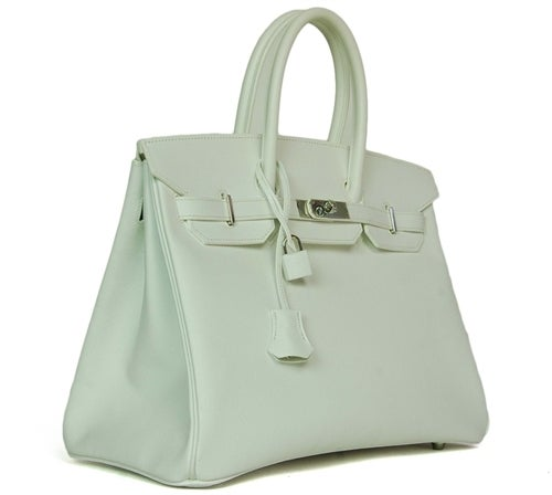 HERMES NEW IN BOX White Epsom Leather 35cm Birkin Bag W. PHW c. 2006 3