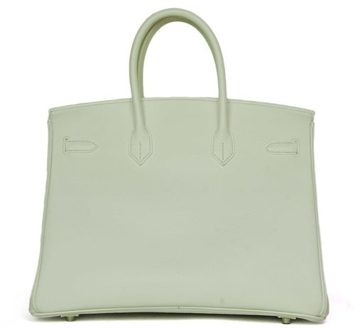 HERMES NEW IN BOX White Epsom Leather 35cm Birkin Bag W. PHW c. 2006 4