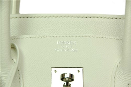 HERMES NEW IN BOX White Epsom Leather 35cm Birkin Bag W. PHW c. 2006 8