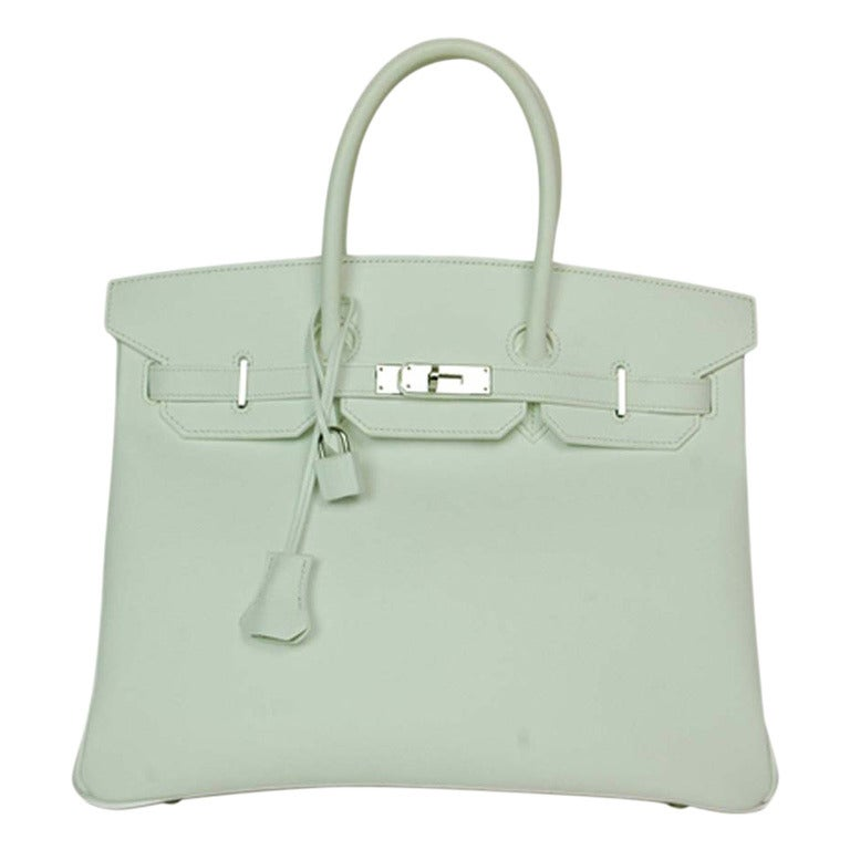 HERMES NEW IN BOX White Epsom Leather 35cm Birkin Bag W. PHW c. 2006 1