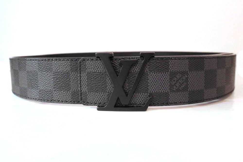 Louis Vuitton Initials Damier Graphite Belt 95 At 1stdibs