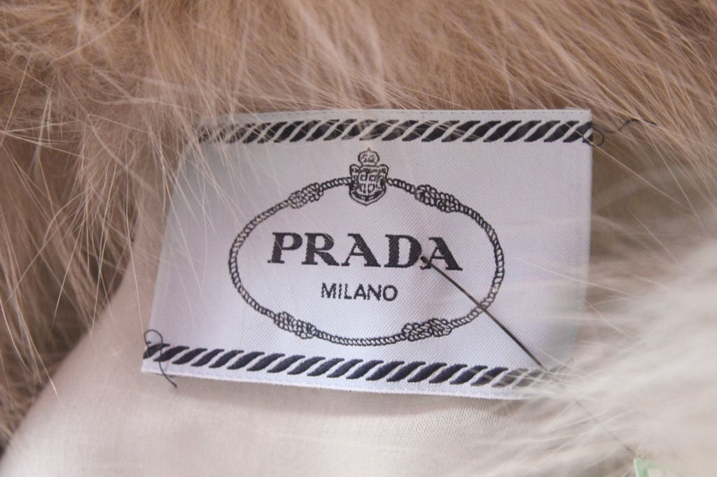 RARE PRADA FW11 GOLD/BLUE PAILLETTE SCALE DRESS W/ FUR COLLAR image 9