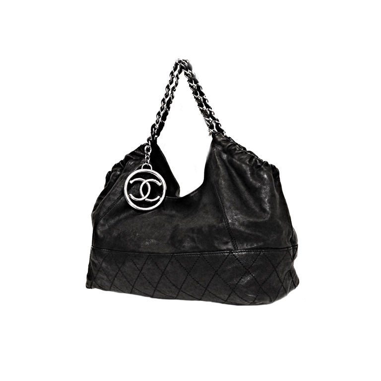 5c448b66e10259 CHANEL BLACK CAVIAR LEATHER COCO CABAS TOTE BAG at 1stdibs
