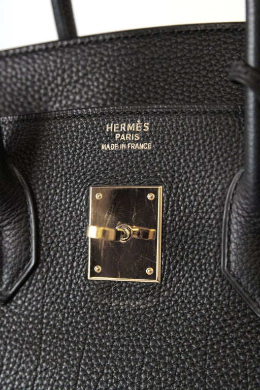 HERMES BLACK LEATHER BIRKIN 35 CM BAG image 7