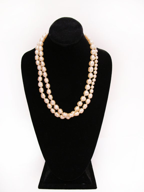Chanel pearl necklace (1991) image 2