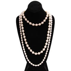 Chanel three-strand pearl necklace