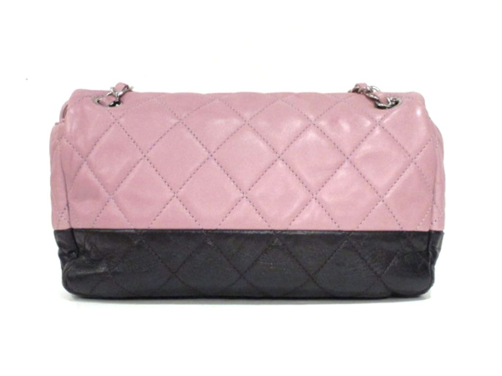 Chanel Purple Mauve Two Tone Quilted Leather Flap Bag 2