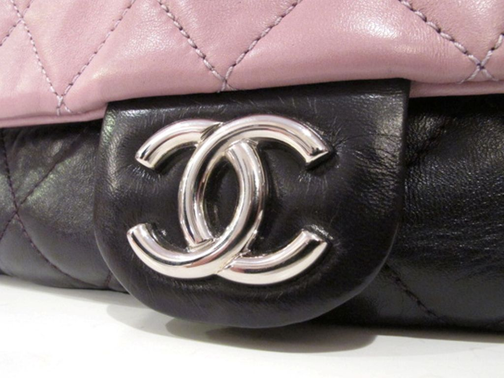 Chanel Purple Mauve Two Tone Quilted Leather Flap Bag 7