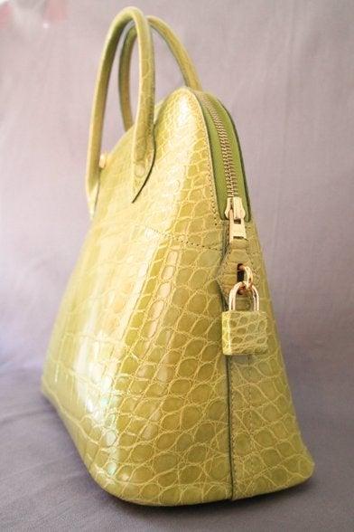 Hermes Vert Anis Crocodile Bolide 32 Cm Bag at 1stdibs