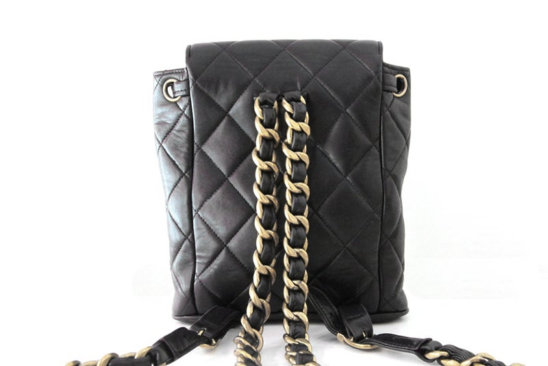 Chanel Black Quilted Lambskin Mini Backpack 2