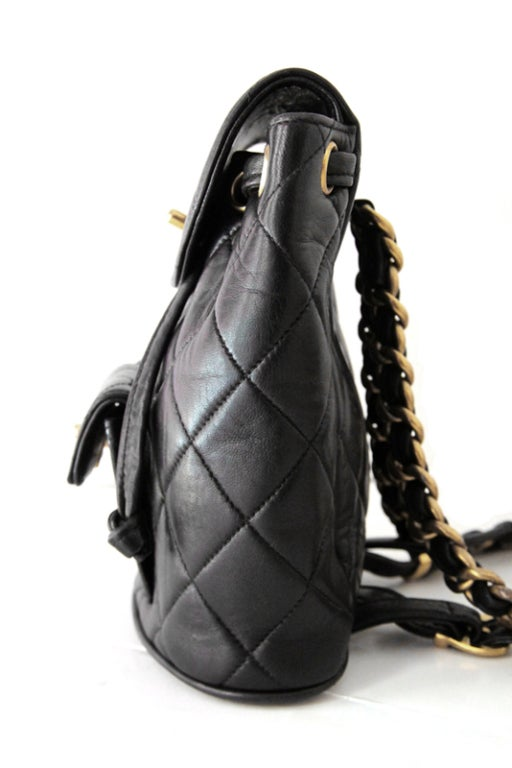 Chanel Black Quilted Lambskin Mini Backpack 3