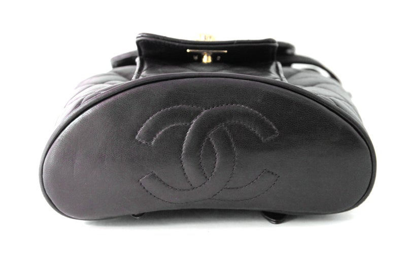 Chanel Black Quilted Lambskin Mini Backpack 4