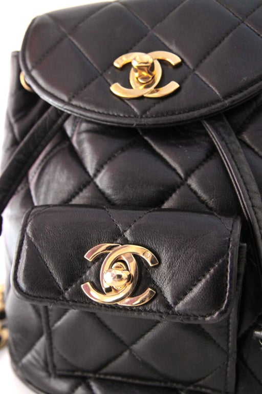Chanel Black Quilted Lambskin Mini Backpack 7