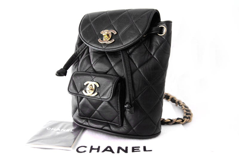 Chanel Black Quilted Lambskin Mini Backpack 9