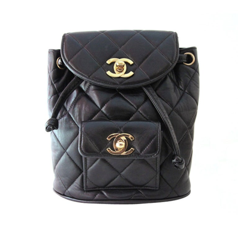 Chanel Black Quilted Lambskin Mini Backpack 1