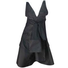 KAUFMAN FRANCO Black Silk/Taffeta Dress