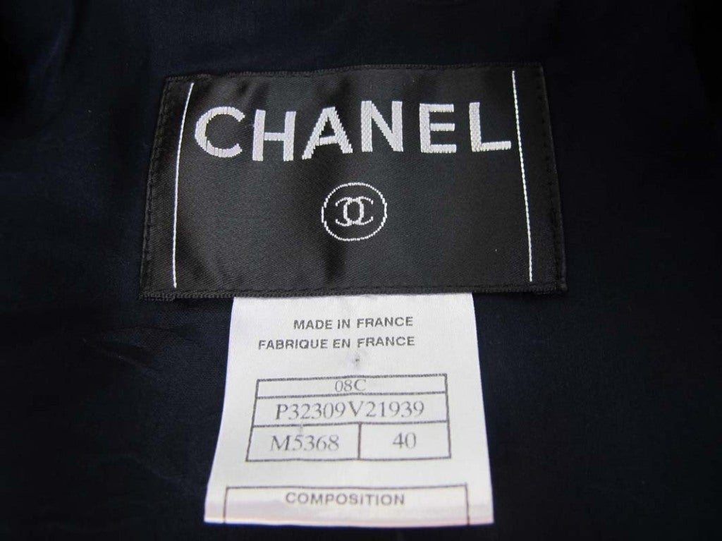 CHANEL Blue Tweed Jacket With Belt 6