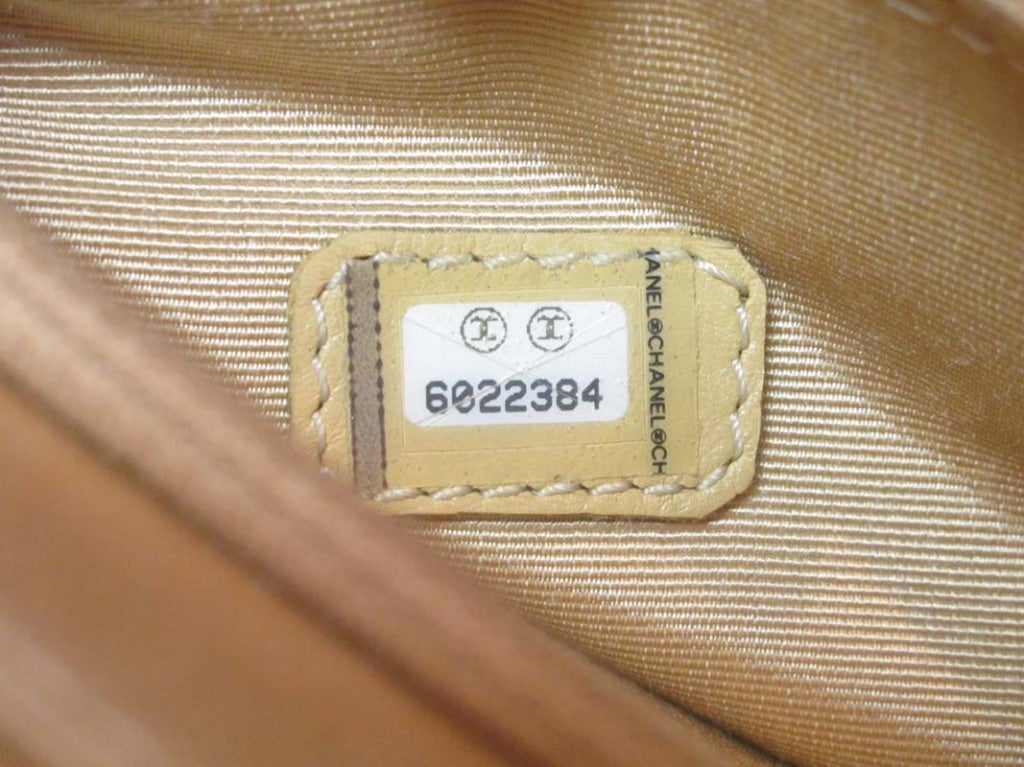 CHANEL Beige Woven Raffia Shoulder Bag 9