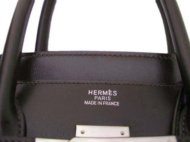 HERMES BROWN LEATHER BIRKIN BAG WITH PALLADIUM HARDWARE 3