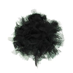 CHANEL Black Lace Brooch thumbnail 1