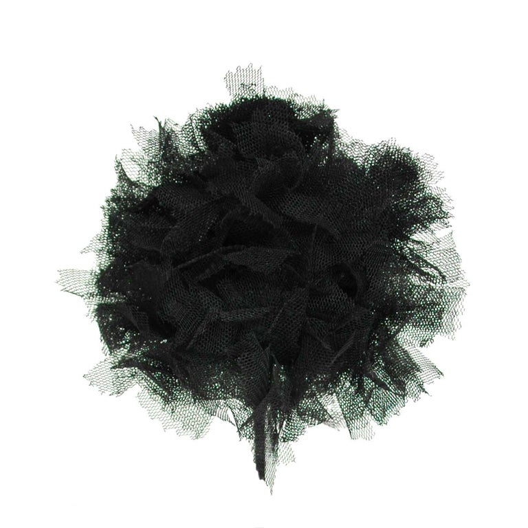 CHANEL Black Lace Brooch