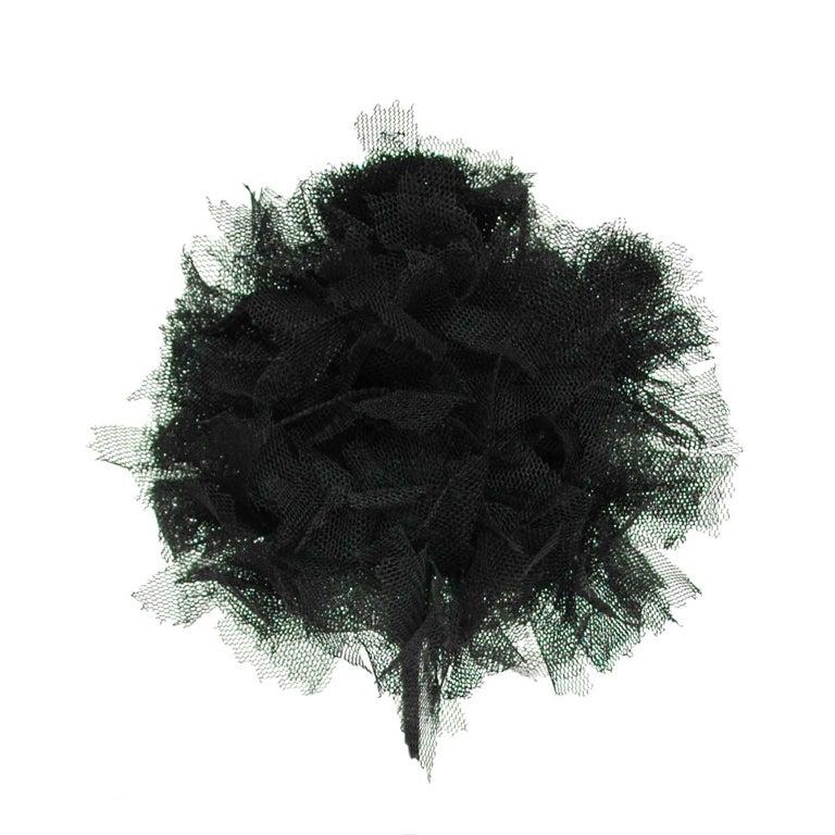 CHANEL Black Lace Brooch