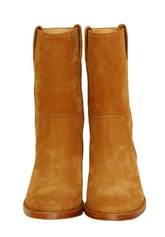 CHANEL Camel Suede Boots 2