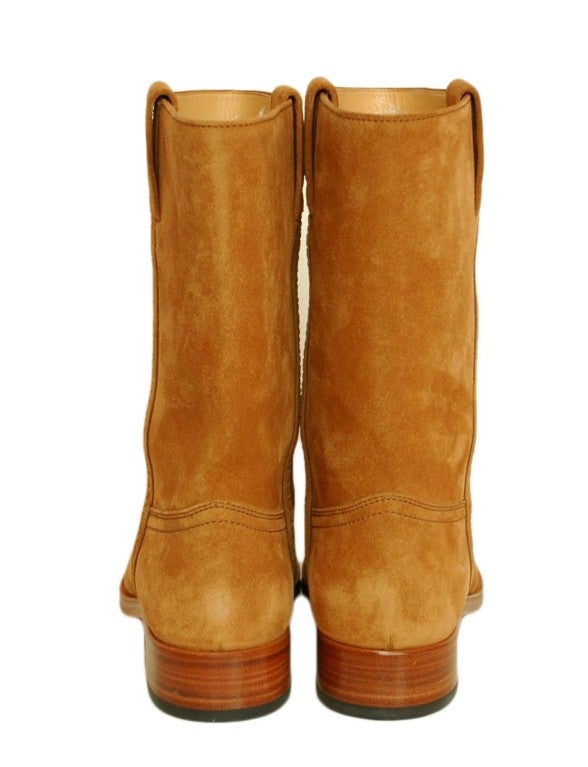 CHANEL Camel Suede Boots 4