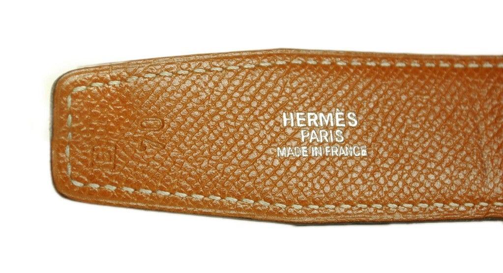 """HERMES Reversible """"H"""" Belt 3"""