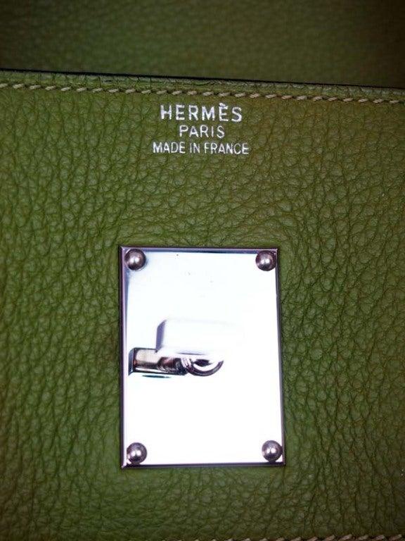 Hermes Vert Chartreuse Jean Paul Gautier Birkin Bag 42cm