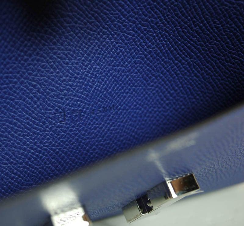 HERMES NIB Blue Electric Epsom Constance Long Combination Clutch 6