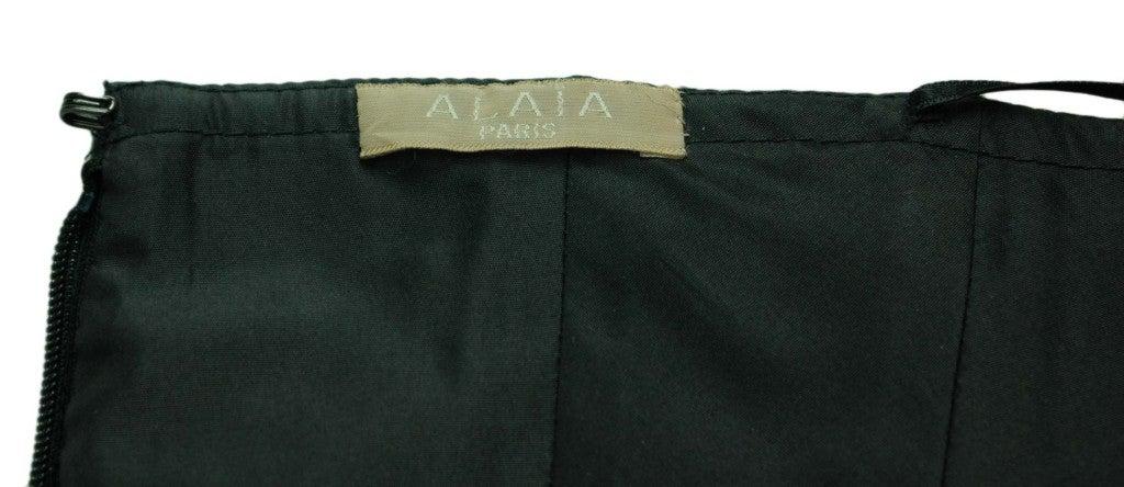 ALAIA Black Wool High Waisted Bubble Skirt 5