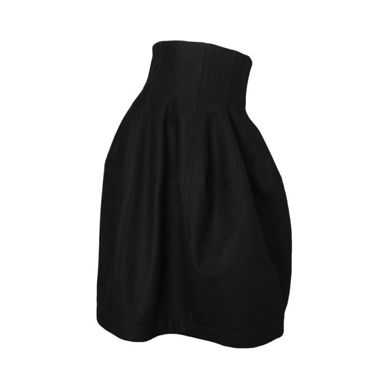 ALAIA Black Wool High Waisted Bubble Skirt 1