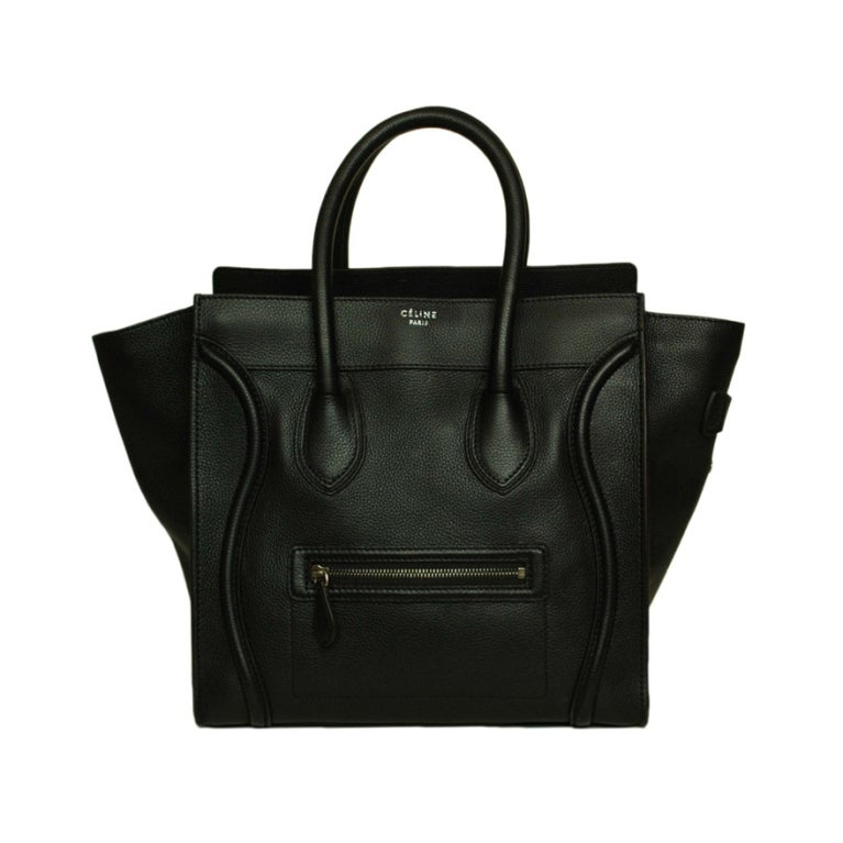 CELINE Black Leather Luggage Bag 1